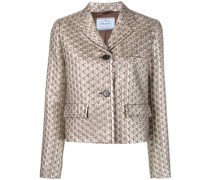 jacquard fitted jacket