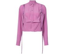 structured fold detail shirt