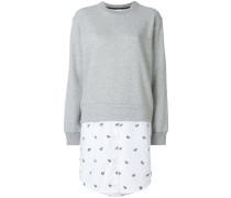 Sweatshirt mit Hemdsaum