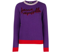 'Amour Impossible' Intarsien-Pullover