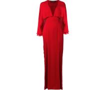 'Karen' Seidenkleid mit Cape