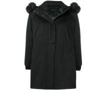 midi fur detailed coat