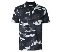 Poloshirt mit Camouflage-Print
