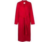 Einreihiger Mantel mit Gürtel