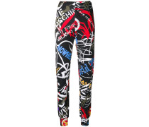 graffiti print leggings
