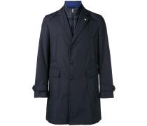 Gefütterter Mantel mit aufgesetzten Taschen