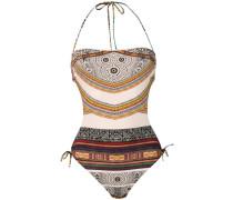 'Aztec' Bandeau-Trikini