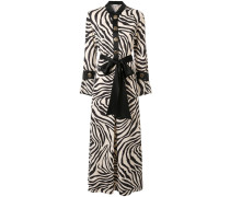 Maxikleid mit Zebra-Print