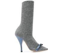 Sock-Boots mit Schleife
