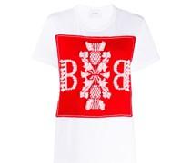 T-Shirt mit gestricktem Einsatz