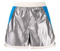 Joggingshorts im Metallic-Look