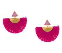 mini fan earrings