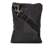 contrast patch messenger bag