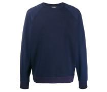 Sweatshirt mit kleinem Waffelmuster