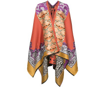Gestrickter Jacquard-Poncho -  Multicoloured