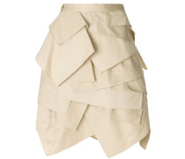 layered fitted skirt