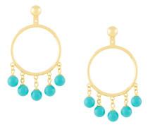 fang pearl charm earrings