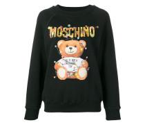 Sweatshirt mit Teddybären-Print
