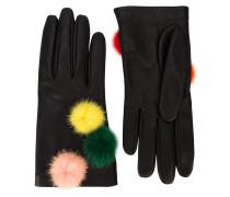 Handschuhe mit Nerzpompons