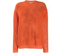 Pullover in Waffelstrick