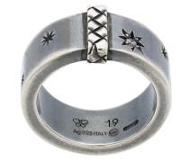 Silberring mit Stern-Gravur