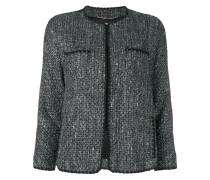 faux fur cuff bouclé jacket