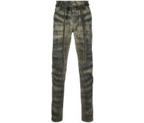 Skinny-Jeans mit Zebramuster