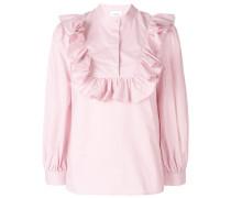 ruffle-trim blouse
