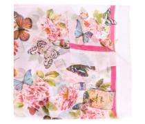 Seidenschal mit Schmetterling-Print