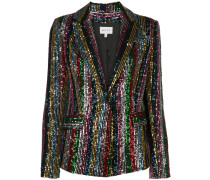 sequinned single-breasted blazer