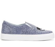 Glitzernde 'Logomania' Slip-On-Sneakers