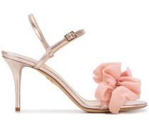 Sandalen mit Seidenapplikation