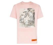 """T-Shirt mit """"Heron""""-Print"""