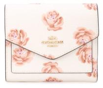 Kleines Portemonnaie mit Rosen-Print