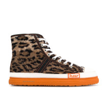 High-Top-Sneakers mit Leo-Print
