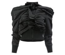 Asymmetrische Jacke mit Rüschen