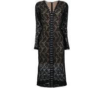 Mittellanges Kleid mit Spitze