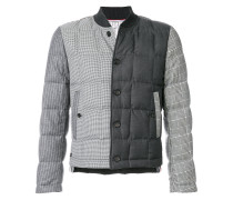 Downfilled Button Front Jacket In Funmix In Prince Of Wales Heavy Wool