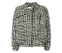 Switch oversized tweed jacket