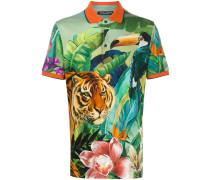 Poloshirt mit Dschungel-Print