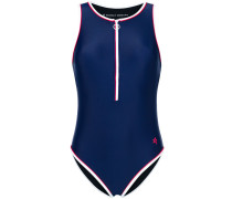 front zipped swim suit