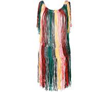 Gestreiftes Kleid mit Fransen