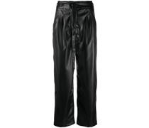 Cropped-Hose aus Kunstleder