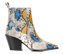 Kate snakeskin print boots