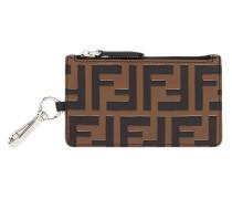 zipped FF motif wallet