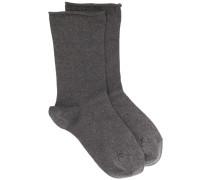 Socken im Metallic-Look