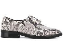 'Sally' Derby-Schuhe mit Schlangen-Effekt