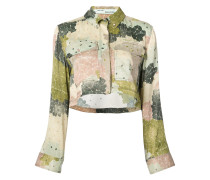 floral print cropped shirt
