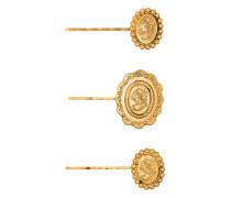 Set aus drei 'Denari' Haarspangen
