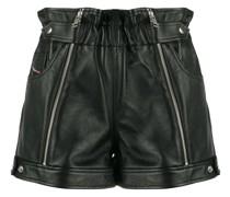 Biker-Shorts mit Reißverschluss